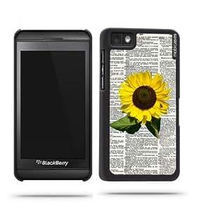 Sunflower On Dictionary Retro Vintage Botanical Blackberry Z10 Case - For Blackberry Z10