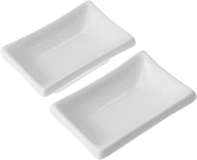 BESTonZON 2 Pezzi Piatto da Portata in Ceramica Bianca 3
