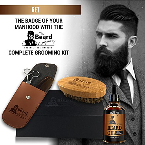 beard grooming trimming growth kit pouch gift box beard oil scentless m. Black Bedroom Furniture Sets. Home Design Ideas