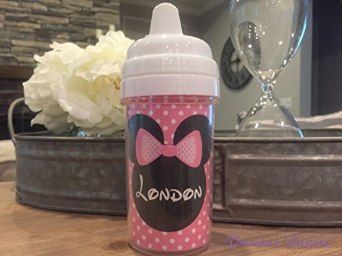 Personalized Minnie Mouse sippy cup, Mouse sippy cup (Personalized Sippy Cup)
