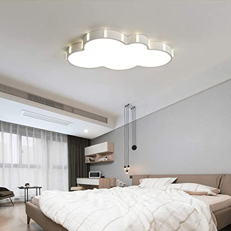 LITFAD Nordic Style Cloud LED Flush Mount Ceiling Light Baby Room Lighting Fixture Cartoon Design Ceiling Lamp With Acrylic Lampshade For Girls Bedroom, Kids Room, Children Bedroom - White Light - - Amazon.com