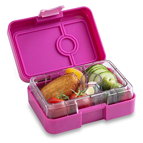 (YUMBOX MiniSnack Leakproof Snack Box (Malibu Purple); Bento-style snack box offers Durable, Leak-proof, On-the-go Meal and Snack)