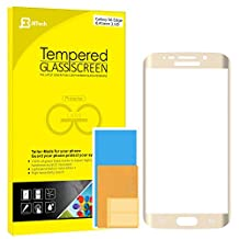 Galaxy S6 Edge Screen Protector, JETech Full Screen Premium Tempered Glass Screen Protector Film for Samsung Galaxy S6 Edge (Gold) - 0861