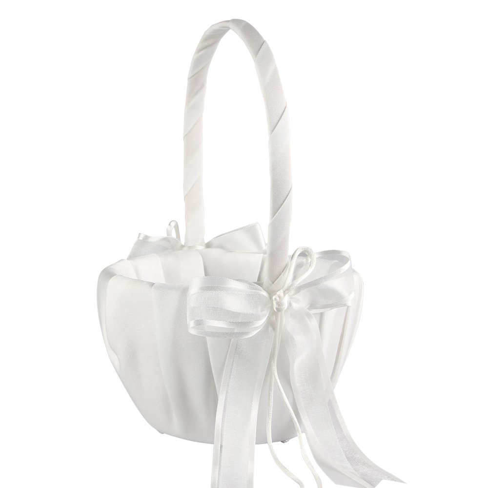 Ivy Lane Design Wedding Accessories Simplicity Flower Girl Basket, Ivory