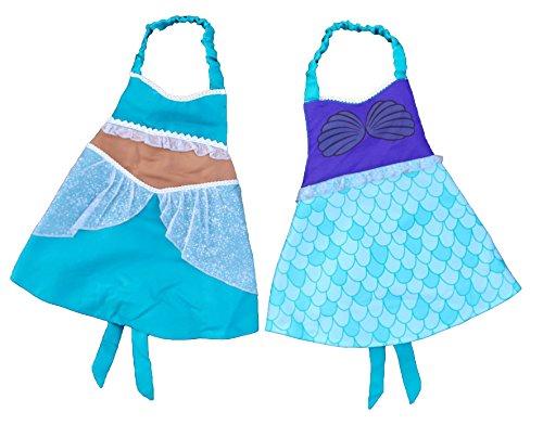 Princess Dress Up Apron Costume Reversible (Mermaid/Arabian Princess) (Easy Mermaid Costume)