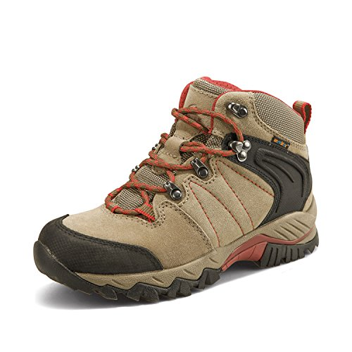Clorts Women's Hiker Leather GTX Waterproof Hiking Boot Outdoor Backpacking Shoe Brown HKM-822C US6.5 ()
