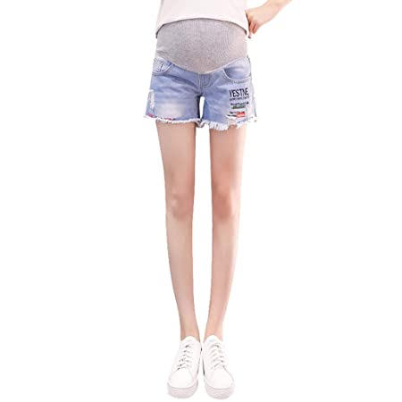 Amazon.com: Maternity Denim Shorts Cotton Lounge Over Bump Pregnancy Shorts Summer Linen Pants: Kitchen & Dining