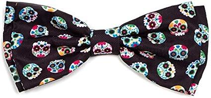 Sugar Skull Dog Bow Tie