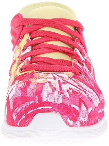 White Reebok Shoe Women's Blazing City Walking Yellow Pink Skyscape Fuse Filament fTfzrq