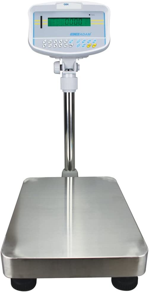 Adam Equipment GBK 70a Bench Check Weighing Scale, 70lb/32kg Capacity, 0.002lb/1g Readability