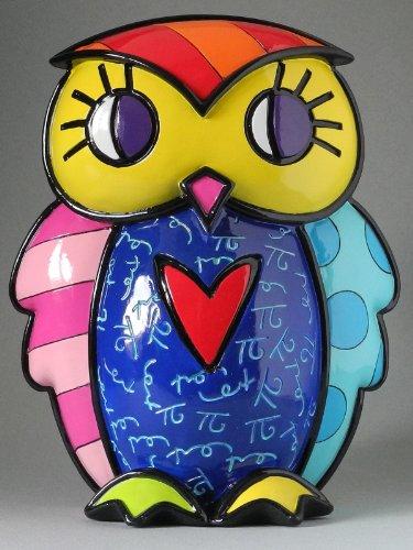 Escultura Owl Lola - Romero Britto - em Resina - 22x16 cm