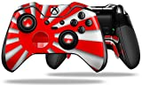 Rising Sun Japanese Flag Red - Decal Style Skin fits Microsoft XBOX One ELITE Wireless Controller (CONTROLLER NOT INCLUDED)