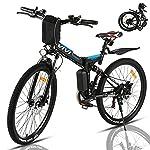 """51e9k5HEfFS. SS150 VIVI Bicicletta Elettrica Pieghevole 350W Bici Elettriche, Bici Elettrica per Adulti, Mountain Bike Elettrica 26"""", Batteria da 8 Ah, Velocità di 32 km/h, 3 Modalità di Lavoro"""