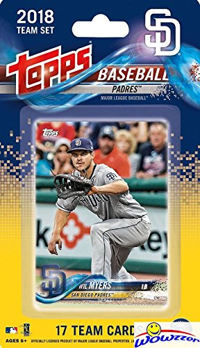 (San Diego Padres 2018 Topps Baseball EXCLUSIVE Special Limited Edition 17 Card Complete Team Set with Wil Myers, Hunter Renfroe & Many More Stars & Rookies! Shipped in Bubble Mailer! WOWZZER!)