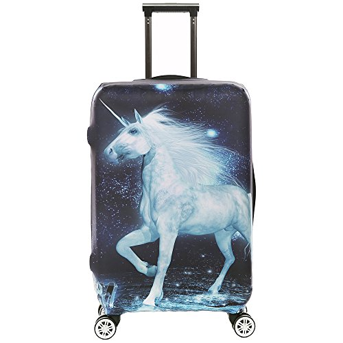 3D Print Horse Design Travel Trolley Case Cover Protector Suitcase Cover 30