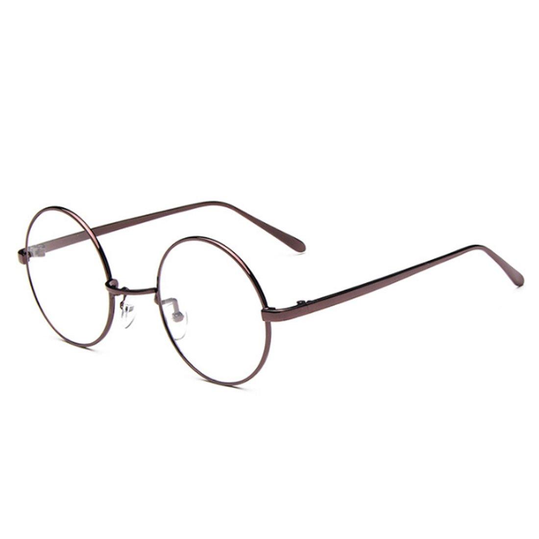 Fulision Male Female Circular myopia Glasses frame Fine Frame Retro Glasses