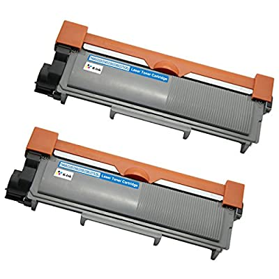 K-Ink Compatible Toner Cartridge Replacement for Brother TN660 TN-660 TN630 TN-630 High Yield (2 Black) for HL-L2320D HL-L2380DW HL-L2340DW MFC-L2700DW MFC-L2720DW MFC-L2740DW MFC-L2707DW