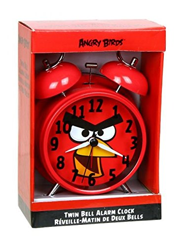 Angry Birds Twin Bell Alarm Clock - Battery Operated.