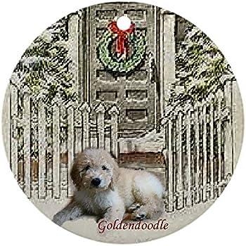 cafepress goldendoodle christmas ornament round round holiday christmas ornament - Goldendoodle Christmas Ornament