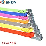 1 lot 5PCS 1 inch (2.5cm)2M Metal Cargo Lashing Strap Polypropylene Ratchet Tie Down with Cam Buckle Winch Strap