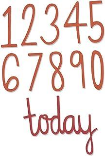 Sizzix 661163 Thinlits Die Set 11PK Matrice Chiffres d'anniversaire par Emily Atherton, Acier Carbone, Multicolore, 23,5 x 7 x 0,5 cm
