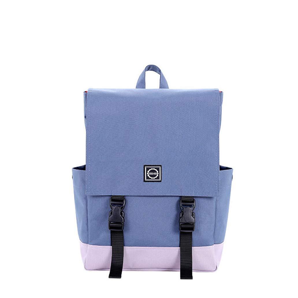 041ed582593d Dark bluee Canvas Backpack Men Oxford Waterproof Travel Leisure ...