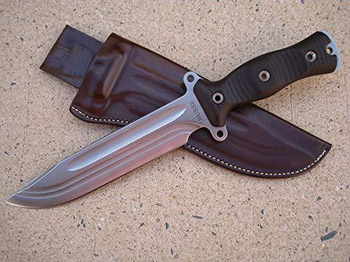 Azula Gun Holsters Busse Combat Forsaken Gemini Knife Custom Molded Leather Sheath Brown -