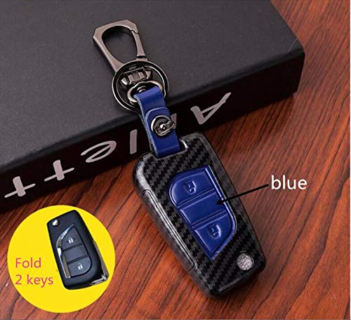 Generic car Key Case Cover auto Key case Keychain for Toyota Yaris Camry Corolla Prado REIZ Crown RAV4 Hilux Color Name Gray