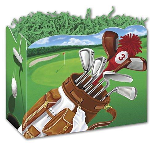 (Golf Scene Gift Basket Boxes, 6 3/4 x 4 x 5