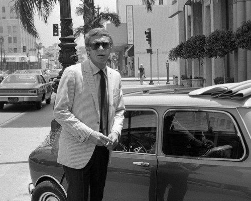 Steve McQueen Austin Mini Cooper sunroof cool pose with sunglasses 8x10 HD Aluminum Wall - Sunglasses Austin