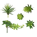 LJY Pack of 5 Assorted Artificial Mixed Flower Arrangements Accent Unpotted Small Plants Set