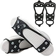 The Fisherman 8 Teeth/Studs/Spikes Anti Slip Ice & Snow Grips, Shoe/Boot Traction Cleats,Rubber Crampons Slip-on Stretch Foo