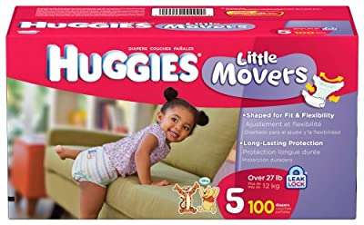Huggies Little Movers, Size 5, 100 Count (Packaging May Vary) from Huggies