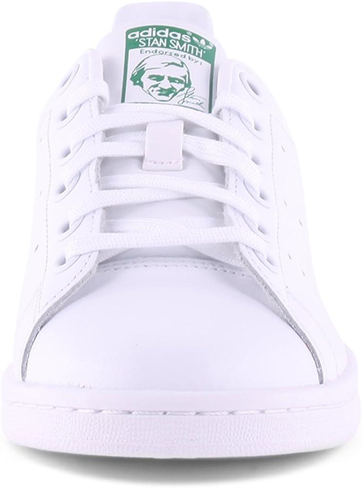 adidas Stan Smith J Zapatillas Unisex Niños, Blanco (Footwear White/footwear White/green 0), 39 1/3 EU: Amazon.es: Zapatos y complementos