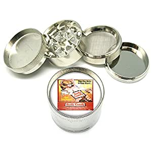 """4 Piece Metal Grinder 2"""" Vintage Poster D-209 Body Candy Melts In Your Hand & Your Mouth"""