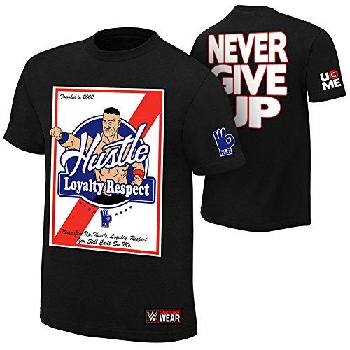 """T-shirt, stampa John Cena, """"Hustle, loyalty, respect"""", prodotto originale"""