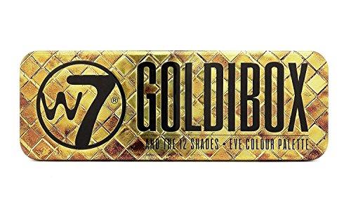 W7 Goldibox and the 12 Shades Eye Colour Palette Tin, 12 Eye