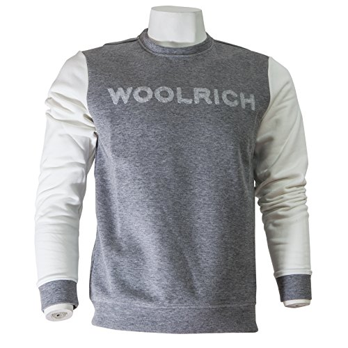 Bonded Grigio Crew Woolrich Uomo Wofel1140 Felpa Fleece Neck Xwqt5tT