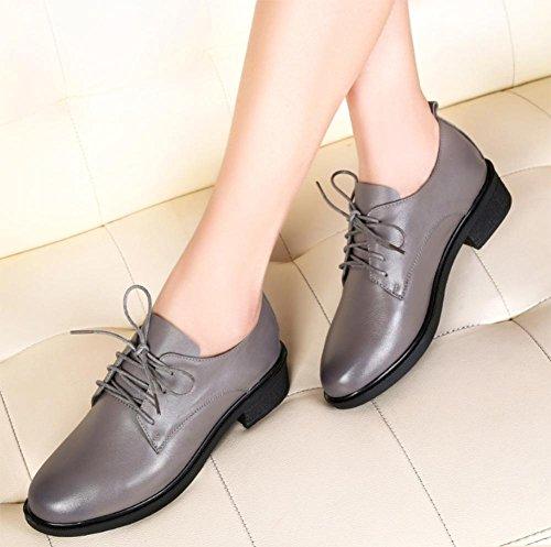 Frau im Frühjahr und Herbst Schuhe mit dicken mit der Dame Schuhen schnüren beiläufige Schuhe mit Schuhen erhöht , US8 / EU39 / UK6 / CN39