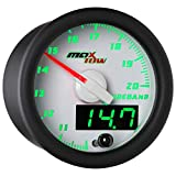 White & Green MaxTow Wideband Air/Fuel Ratio Gauge with Oxygen Sensor & Data Logging Controller