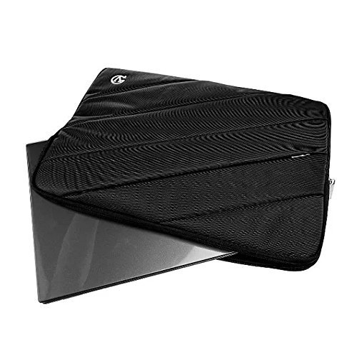 VanGoddy 12 inch Tablet Notebook Sleeve , Dual Zipper Design Carrying Case Bag with Accessory Pocket, for Acer Aspire Switch 11 / Samsung Galaxy Tab S 10.5 / Samsung Series 7 / ASUS VivoTab (Black)