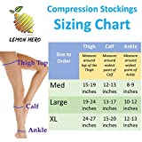 Thigh High Compression Stockings 20-30mmHg with