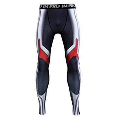 f9b64981c9 Cosfunmax Superhero AE Cosplay Compression Sports 3D Tight Quick Dry Base  Layer Pants XS