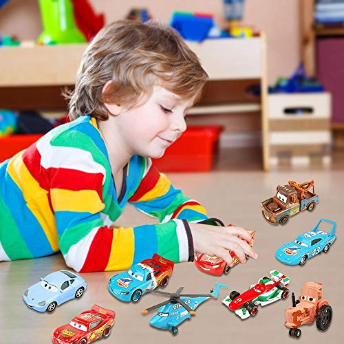 Hannaier Cars, Lightning McQueen car Toy 1:55 die-Casting car Metal Alloy boy Kid Toy (McQueen Sliver)