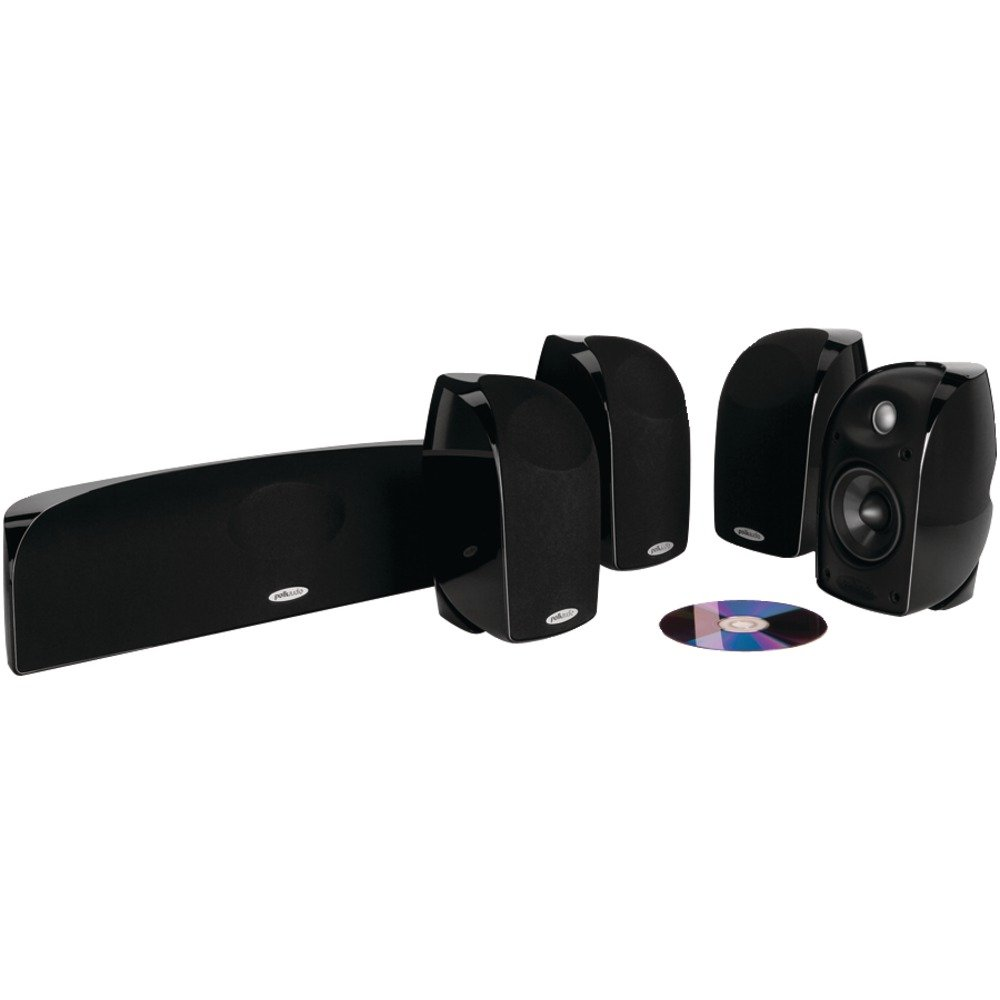 Polk Audio TL250 Compact, High Performance Home Theater System (5-pack, Black) by Polk Audio