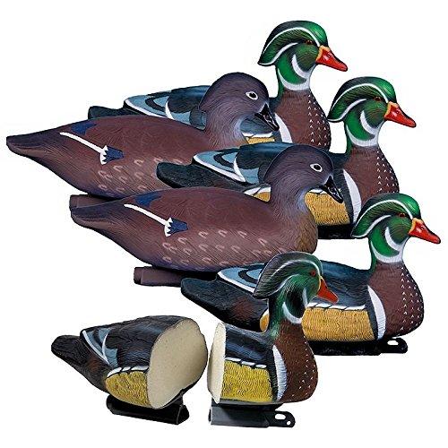 Higdon Outdoors Standard Wood Duck Decoys, Foam Filled
