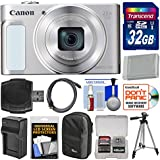 Canon PowerShot SX620 HS Wi-Fi Digital Camera (Silver) with 32GB Card + Case + Battery + Charger + Tripod + HDMI Cable + Kit