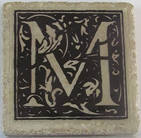 Cup Coaster Stone Coaster Drink  Bar Coaster Tile Coaster Name /& Initial Set of 4 Ceramic Tile Personalized  Stone Coasters
