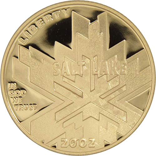 2002-W $5 Salt Lake City Olympic Games Commemorative Gold Coin Choice Proof