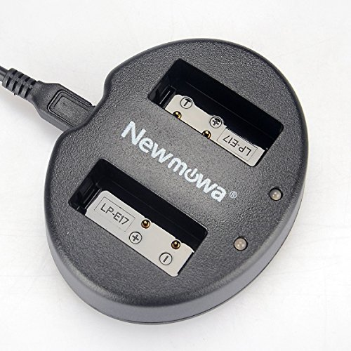 Newmowa Dual USB Charger for Canon LP-E17 and Canon EOS M3 M6 750D 760D Rebel T6i T6s 8000D Kiss X8i Digital Cameras
